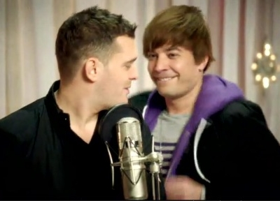 Michael Buble Justin Bieber SNL Christmas 2011