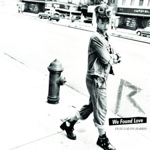 Rihanna Calvin Harris We Found Love single cover