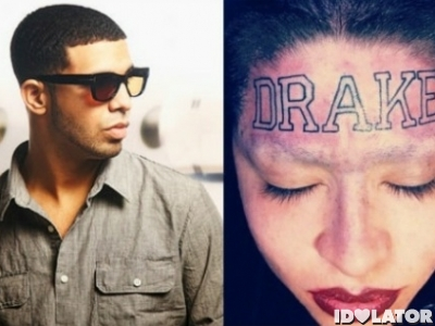 drake face tattoo