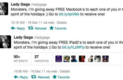 lady gaga hacked