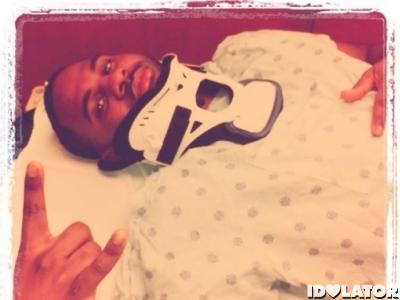 Jason DeRulo fractured neck January 2012