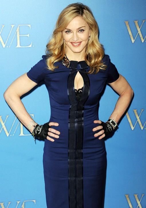 Image result for madonna blue dress images