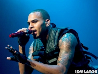Chris Brown performing live