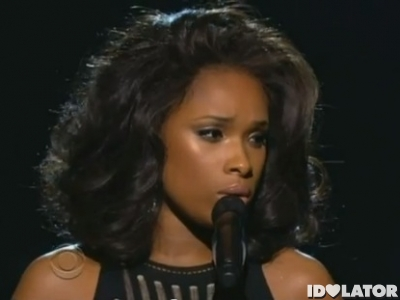 Jennifer Hudson Whitney Houston I Will Always Love You tribute 2012 Grammy Awards