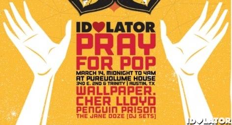 Pray For Pop Idolator SXSW party 2012 crop