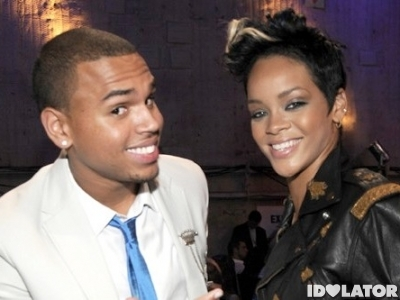 Rihanna Chris Brown smiling