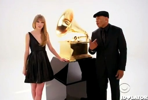 Taylor-Swift-LL-Cool-J-2012-Grammy-Awards-promo-ad-commercial
