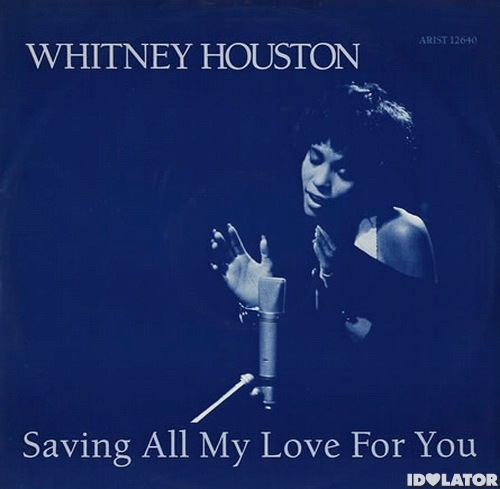 Whitney Houston Saving All My Love For You single cover