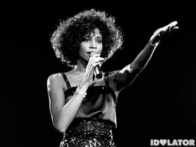 Whitney Houston black and white 1980s