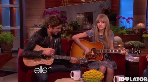 Zac Efron Taylor Swift The Ellen DeGeneres Show February 2012 Foster The People Pumped Up Kicks