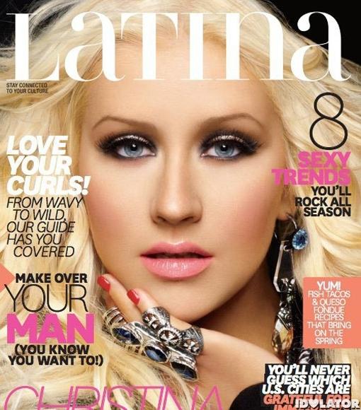 christina aguilera latina magazine cover 2012