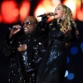 PHOTO via Cee Lo Green and Madonna perform during the Bridgestone Super Bowl XLVI Halftime Show at Lucas Oil Stadium on February 5, 2012 in Indianapolis, Indiana.