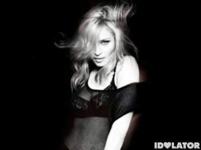 Madonna MDNA black white promo photo