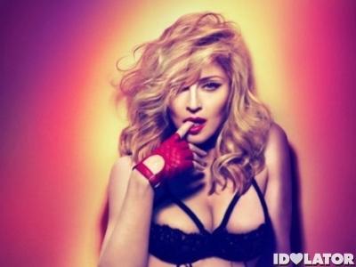 Madonna MDNA promo shot bra
