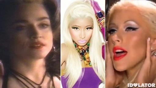 Madonna Nicki Minaj Christina Aguilera Pepsi commercial ad