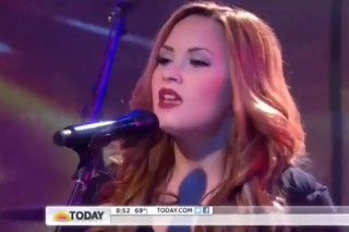 Demi Lovato Performs On 'The Today Show'