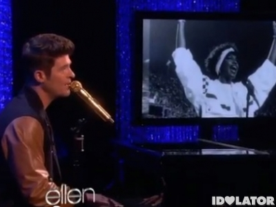 robin thicke whitney houston cover