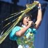 Santigold performs during Coachella 2012