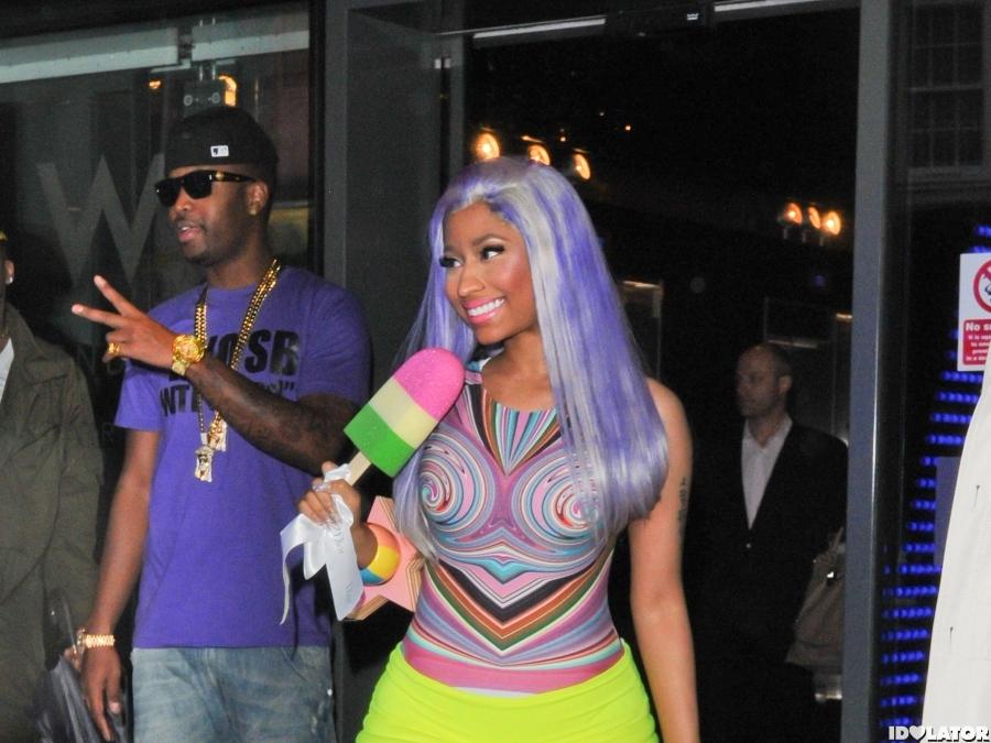 Nicki Minaj Wears Neon In London
