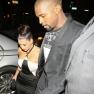 Kanye West and Kim Kardashian Holding Hands