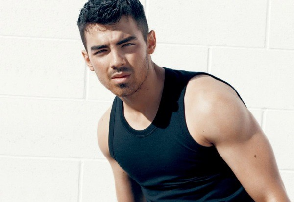 Joe Jonas black tank top muscle shirt