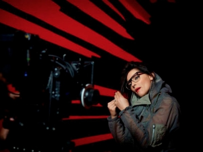 Nelly Furtado Big Hoops music video set shoot
