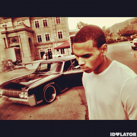 "Chris Brown ""Sweet Love"" Music Video Shoot"