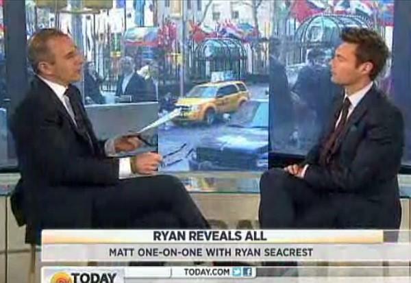 Ryan Seacrest Matt Lauer Today Show NBC