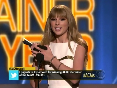 Taylor Swift Academy Of Country Music Awards 2012 ACMs Entertainer Of The Year