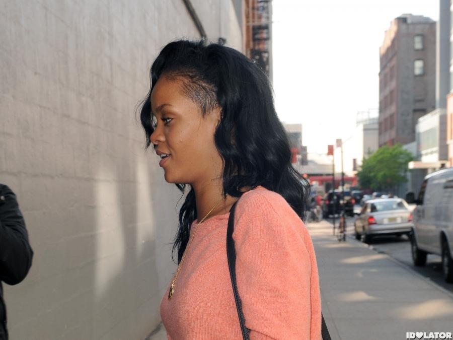 Rihanna In Short Shorts In NYC