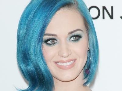 Katy Perry blue hair 2012