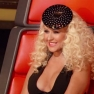 Christina Aguilera rhinestone hat