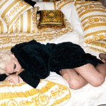 Lady Gaga sleeping