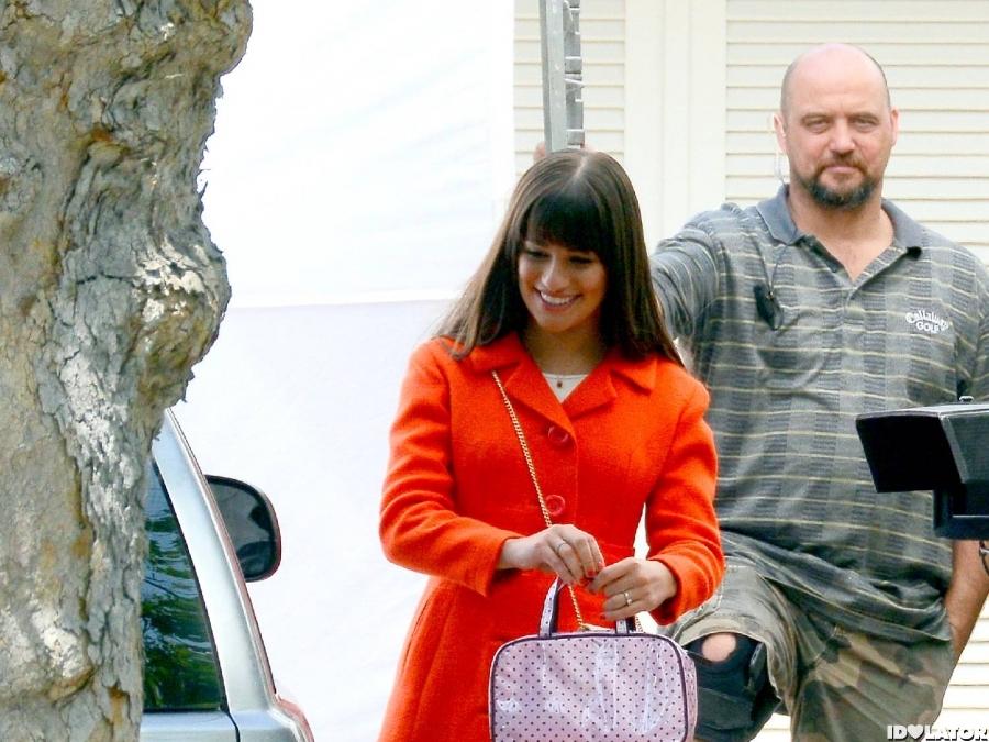 Lea Michele: 'Glee' Shoot