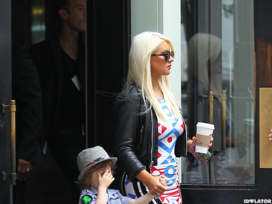 Christina Aguilera: Out In New York City