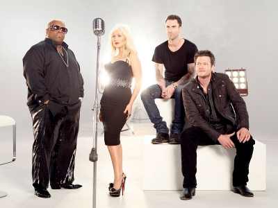 The Voice Christina Aguilera Cee Lo Green Adam Levine Blake Shelton