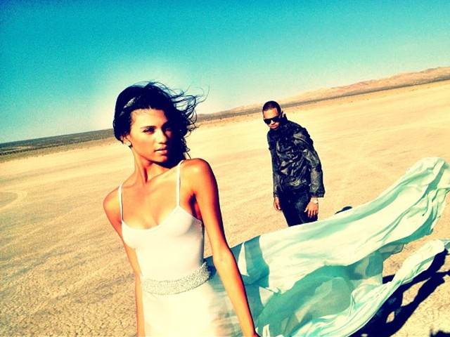 "Chris Brown ""Don't Wake Me Up"" Music Video Shoot"