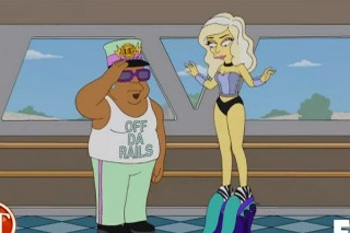 Lady Gaga Rides The Train — Go Behind-The-Scenes Of Her 'Simpsons' Episode