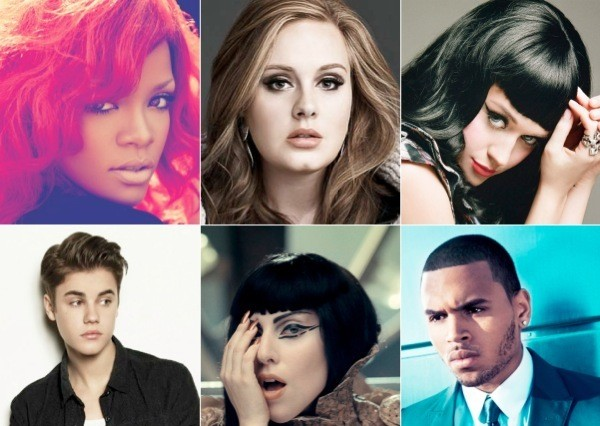 Rihanna Adele Katy Perry Justin Bieber Lady Gaga Chris Brown Billboard Music Awards 2012