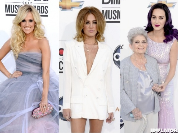 2012 billboard music awards miley cyrus katy perry carrie underwood