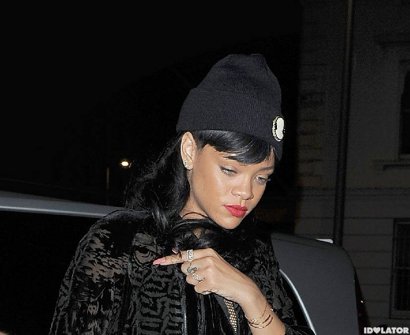 Rihanna After Watching The Throne In London