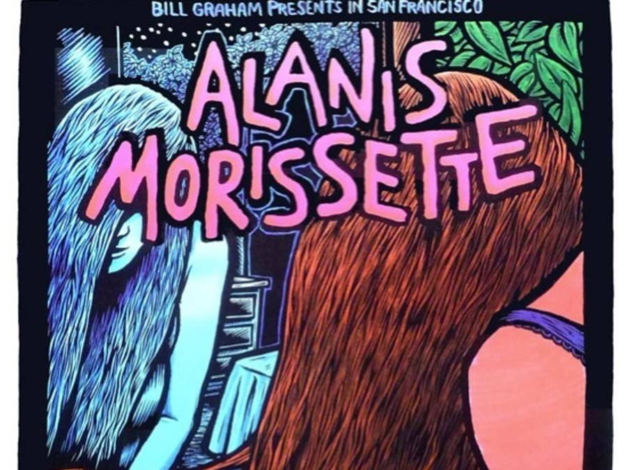 Alanis Morissette 1995 Concert Poster