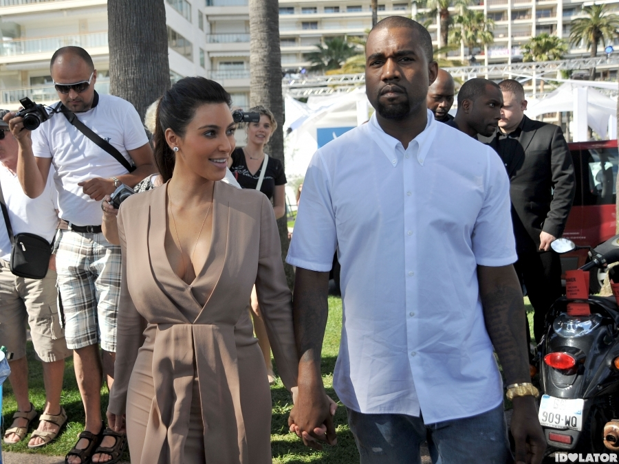 Kim Kardashian And Kanye West Stop For Ice Cream In Cannes