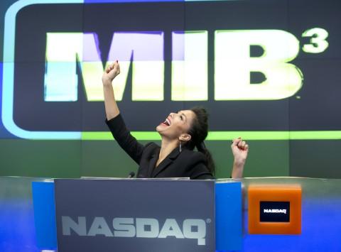 Nicole Scherzinger Hits Wall Street To Promote 'Men In Black 3′