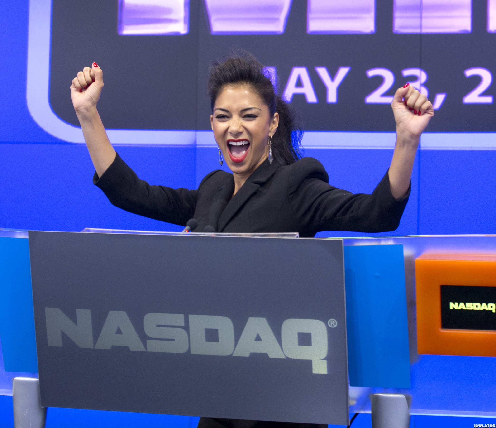 Nicole Scherzinger Rings In The Opening Bell On Wall Street