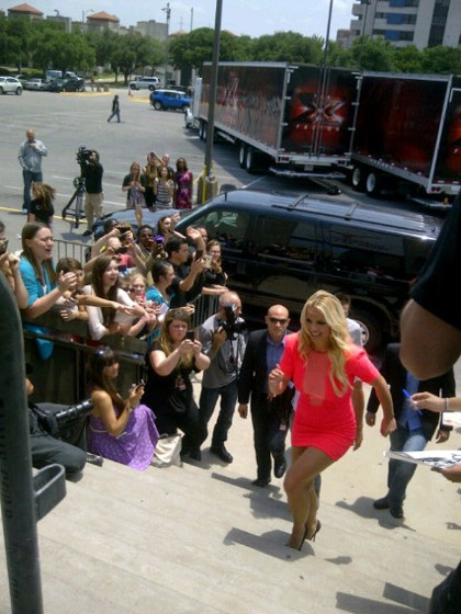 Britney Spears Attends Her Taping Of 'The X Factor'