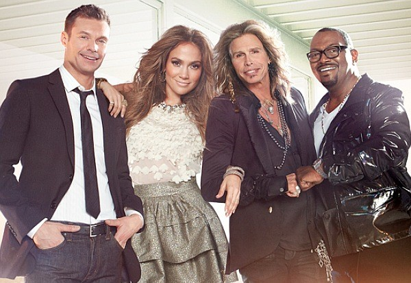 American Idol Ryan Seacrest Jennifer Lopez Steven Tyler Randy Jackson