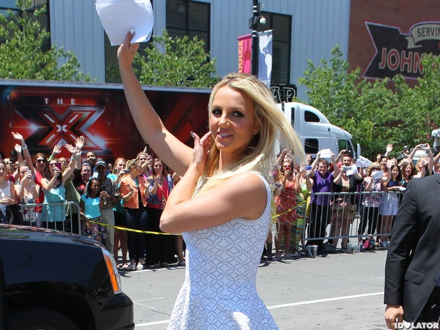 Britney Spears Arrives At 'The X Factor' Auditions In Kansas City
