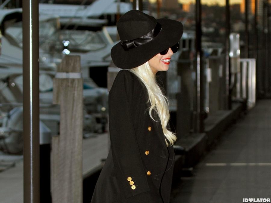 Lady Gaga Wears All Black In Sydney