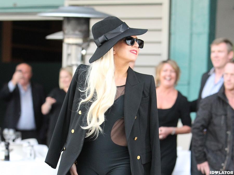 Lady Gaga Wears All Black In Sydney